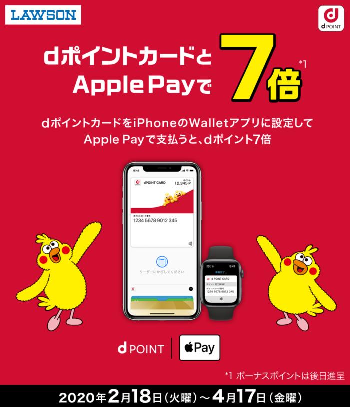 ローソン Apple Pay&Walletでポイント7倍キャンペーン