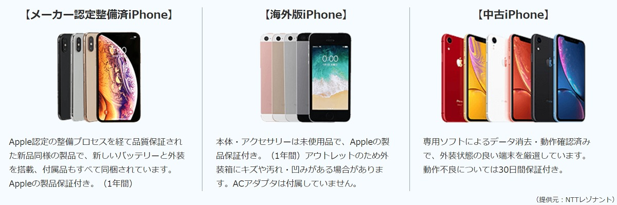OCN iPhone機種