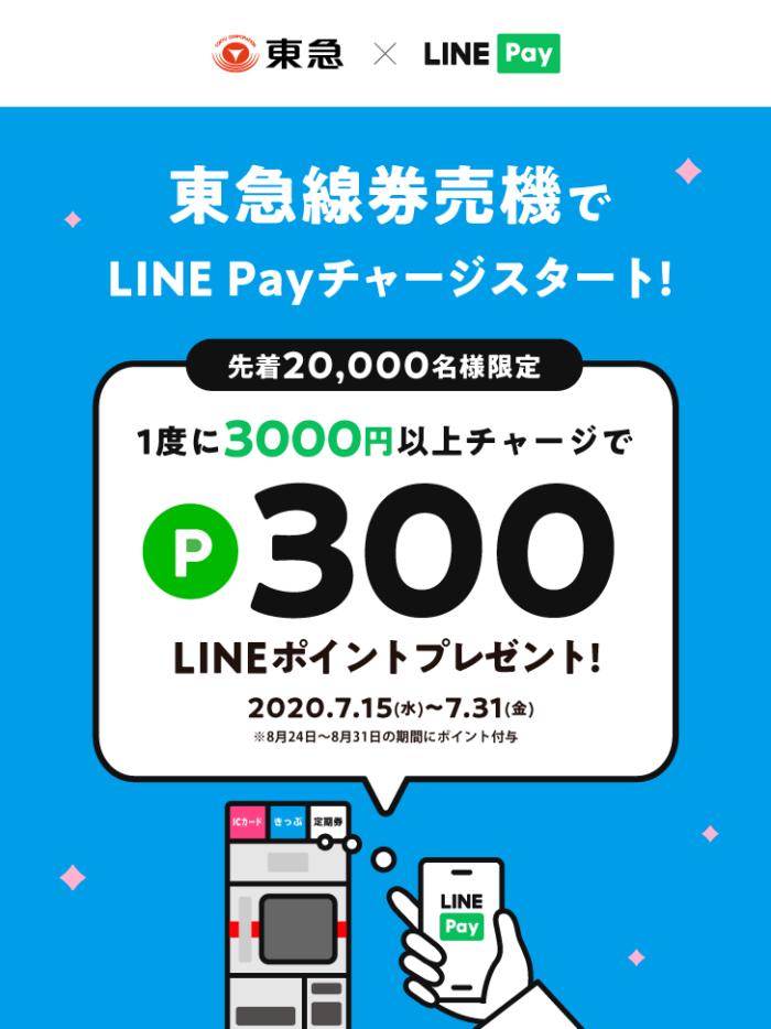 東急線券売機でLINE Payチャージ!スタートキャンペーン