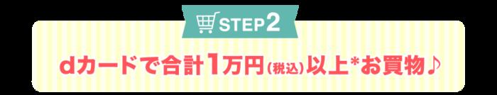 STEP2 dカードで合計1万円(税込)以上お買物