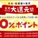 【大丸・松坂屋 × 楽天】楽天ポイント使用分の20%をポイントバック大還元祭!楽天ポイントが今無い方に、楽天ポイントギフトカード(POSAカード)登録の技。